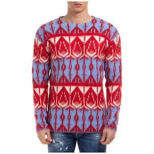 Moncler Genius maglione uomo 9055452A9289790 viola collo tondo golf maglia