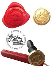 AUSTRALIAN SYDNEY OPERA HOUSE  Flying Coin Seal and Red Wax Stick XWSC004 -KIT