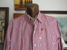 Artful Dodger | Button Up Shirt | Red and White Gingham Checks | Cotton | XXXL