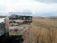 MINI PAINTING EN PLEIN AIR LANDSCAPE ANNE THOUTHIP ART ORIGINAL RED BARN
