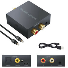 Digital Coaxial Optical Toslink to Analog RCA R/L 3.5mm Audio Converter Adapter