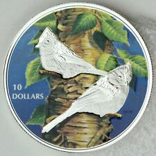 2017 $10 Birds Among Nature's Colors: Tufted Titmouse 1/2 oz Pure Silver Proof