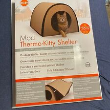K&H Pet Products Heated Cat House - Tan