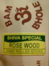 ROSE WOOD INSENCE STICKS HAND ROLLED FROM INDIA SHIVA SPECIAL