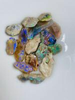Australian Rough L/R Bright Knobby Opal colours to Carve + cut 75ct #RV413 VIDEO