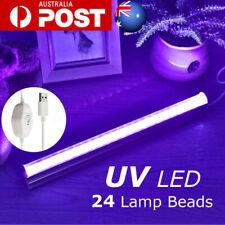USB 5V 30cm UV Ultraviolet 24 LED Strip Tube Light Party 395nm