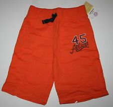 New Carter's Boys Orange Allstar Pull On Style Drawstring Shorts Size 6 year NWT
