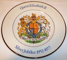 Queen Elizabeth II Silver Jubilee porcelain  plate,  Wood & Sons, England, 1977