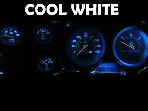 Gauge Cluster LED Dashboard Bulbs Cool White For Chevy 73-87 K10 K20 K30 Truck