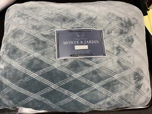 New O/B Monet & Jardin Queen Velvet Sherpa Blanket