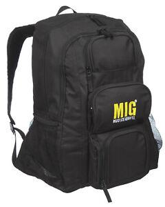 Mens BLACK Large Hiking Backpack Rucksack Bag SPORTS TRAVEL CAMPING CASUAL WORK