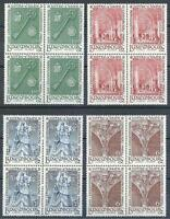 Luxembourg 1966 Sc# 436-39 set Notre-Dame blocks 4 MNH