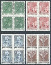 Luxembourg 1966 Sc# 436-39 set Notre-Dame blocks 4 MNH