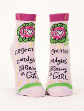 women's Ankle Socks, Being A Girl, Blue Q, Cotton, One Size, Funny, Novelty