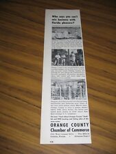 1957 Print Ad Orange County Chamber of Commerce Orlando,FL