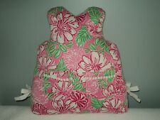 Rare LILLY PULITZER Bed Toss Pillow Shift Dress Shaped Pink Green Floral