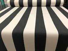 BLACK & WHITE STRIPE SUNBRELLA ACRYLIC CANVAS AWNINGS OUTDOOR CUSHIONS BOATING
