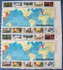 1944: Road To Victory Sheet of 20 - 29¢ Stamps in Normandy Folder 1994 #2838