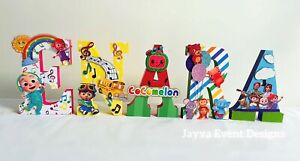 Cocomelon NAMES Birthday Party Table Decoration Cake Table cake smash