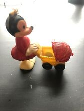 New listing Marx 1950's Minnie Mouse Pushing Baby Carriage Ramp Walker Free Shipping F1