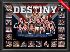 Sydney Roosters Official Deluxe Sportsprint Frame Destiny - 2018 NRL Premiers