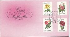 Fdc 1982 Roses in Australia set 4 Special Postmark Cloverdale Wa 6105 19 May