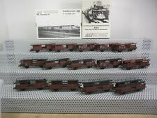 M+D H0 diverse offene Güterwagen Autotransportwagen Set 14-teilig ohne OVP F172