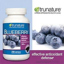 Trunature Blueberry Extract Softgels 1000mg - 200 softgels - NEW