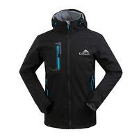 NWT Mens Soft Shell Waterproof Coats Hooded Softshell Outdoor Sport Jackets