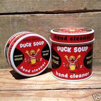 Vintage Original 1950s DUCK SOUP HAND CLEANER TINS 2 Different NOS Tin