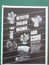 5/85 PUB CSEE SIGNAUX LANCE LEURRES ANTI MISSILE ELECTROMAGNETIQUE INFRARED  AD