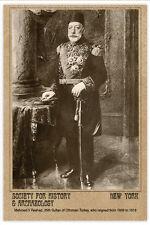 OTTOMAN EMPIRE 35th Sultan Mehmad Reshad 1910 Turkey Photo Vintage Card CDV A++