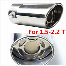 Stainless steel Car Round Exhaust Pipe Tip Tail Muffler cover styling
