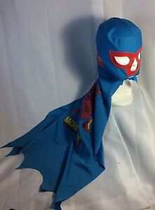 NACHO LIBRE LUCHADOR-WRESTLER MASK WITH CAPE ATTACHED!! GREAT FOR KIDS!! AWESOME