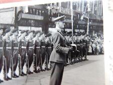 ARMY MILITARY STREET PARADE  1950S ERA   PERHAPS LONDON AREA    WHERE  DAMAGED
