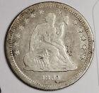 1862 Liberty Seated Quarter.  Civil War Era.  Fine.  164776 for sale