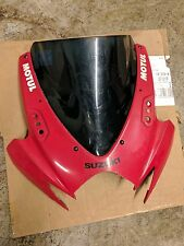 06 07 Suzuki GSXR 600 750 Front Upper Red Headlight Fairing Cover Windscree  OEM