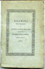 Disamina dell'elogio di Lodovico A. Muratori scritto da Pietro Schedoni. Modena