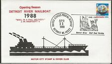 1988 Detroit Riverboat Mail Service, Opening Season