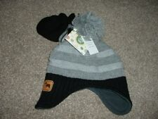 Little Me Baby Boys Black Gray Winter Sweater Hat Mittens Set 12-24 months NWT