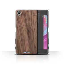 Hülle/Case für Sony Xperia X Performance/Nussbaum/Holz/Holzmaserung Muster