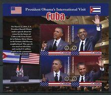 Tuvalu 2016 MNH Barack Obama Visits Cvba Raul Castro 4v M/S US Presidents Stamps