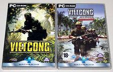 2 PC juegos bundle-Vietcong & Add on first alpha-vietnam Shooter clásico