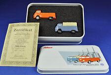 SCHUCO Piccolo Set Historische Transporter / Vans - 2 Stück / pcs VW Bus, limit.