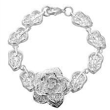 Plata 925 Flor Pulsera Hermosa Cadena, la joyería de moda Reino Unido