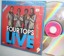 FOUR TOPS LIVE AT PARK WEST Chicago Illinois '84 LASERDISC RARO Imagen ENT. r&b