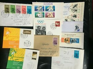 OLYMPICS - Germany 10 x covers + cards from various games list below