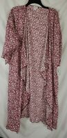 Lularoe Women's Pink Floral Large L Shirley Cardigan Kimono Cover up New Tags