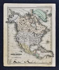 1882 McNally Map North America United States Canada Mexico Alaska West Indies