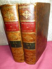DICTIONNAIRE CLASSIQUE DE L'ANTIQUITÉ SACRÉE ET PROFANE 2/2 vols